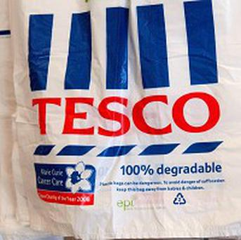 A Tesco customer was ordered to take his young daughter off his shoulders because of health and safety concerns