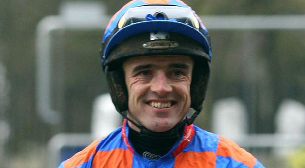 Ruby Walsh took yesterday's riding honours with a brilliant 40/1 treble Photo: Getty Images