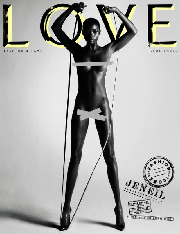 Love magazine features eight naked super models