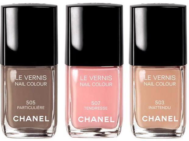 Chanel's new nail polish range - Particulière, Trendresse, and Inattendu
