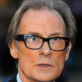 Bill Nighy is playing a banker to get his message across