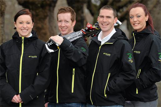 Irish Winter Olympic hopefuls Claire Bergin, Shane O'Connor, Pat Shannon and Aoife Hoey