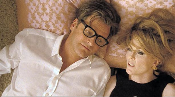 KING COLIN: Colin Firth, never better than this brilliant performance, is joined by Julianne Moore in Tom Ford's accomplished debut.
