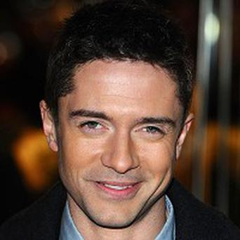 Topher Grace was covered in fake blood when he saw Valentine's Day