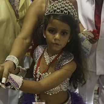 Julia Lira, 7, got crowd fright as she performed a samba (AP)