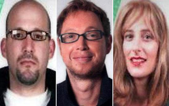 The Passport Office has no record of (from left) Kevin Daveron, Evan Dennings and Gail Folliard