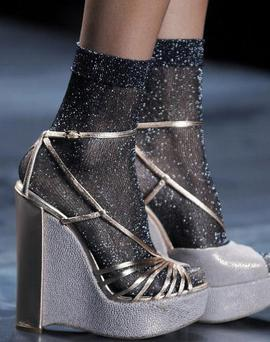 The wedge shoe as featured during the Christian Dior S/S2010 fashion show.
