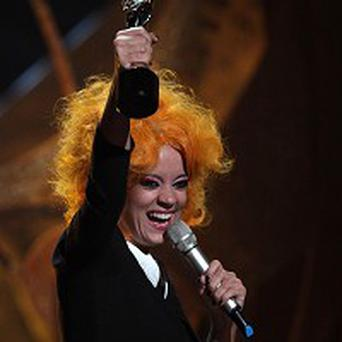 Prams used during Lily Allen's Brits performance will be sold for charity