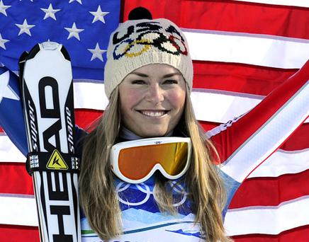 USA's gold medallist Lindsey Vonn. Photo: Getty Images