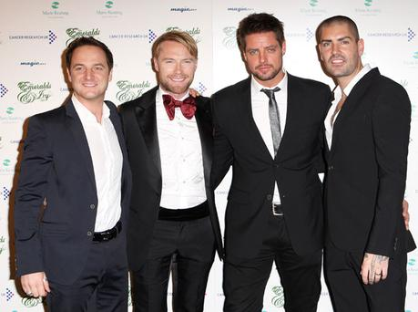 Boyzone made an emotional TV appearance yesterday as they performed together for the first time since bandmate Stephen Gately's death. Photo: Getty Images