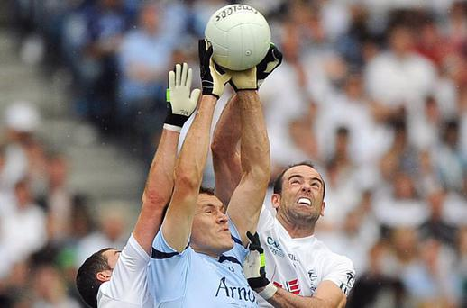 Two of the great midfielders of the past decade, Ciaran Whelan of Dublin and Dermot Earley of Kildare, go head to head in last year's Leinster Final. As this generation of midfield talismen retire, there are few younger players to take their place