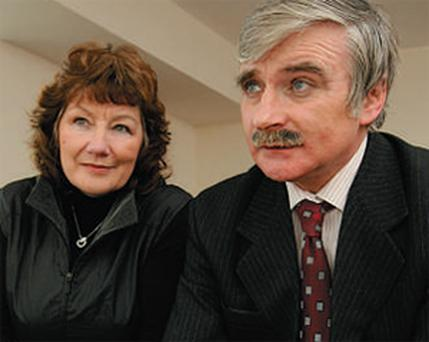 Deep resentment: Willie O'Dea, pictured with his wife Geraldine yesterday, reveals his upset at the role of Senator Dan Boyle and sections of the media