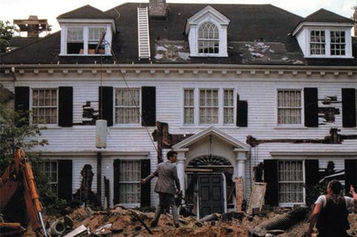 Tom Hanks in the 1986 Hollywood movie The Money Pit. Disaster strikes when a young couple buy their dream home, and, after moving in, discover serious problems. Despite sinking a fortune into saving the house, the problems get worse and worse and swallow up ever increasing chunks of their money