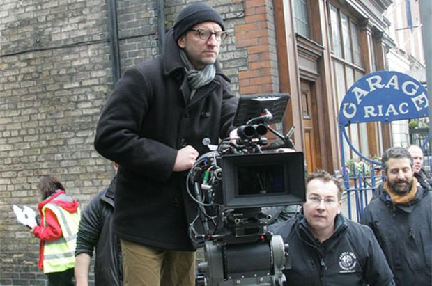 US director Steven Soderbergh on the set of his film 'Knockout' in Dawson Street, Dublin, earlier this month