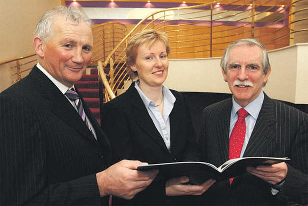 FRESH FIGURES: Pictured at the launch of the National Dairy Council 2009 Annual Review were (left) NDC vice chairman Henry Corbally; Helen Brophy, chief executive of the NDC; and Barry Jones, managing director of BMR (Business & Market Research)