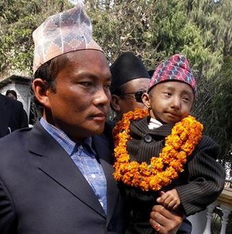 Khagendra Thapa Magar is seeking a world record (AP)