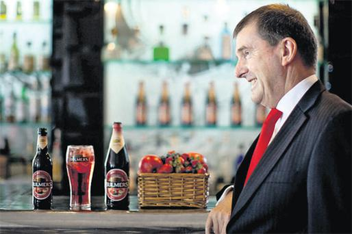 Michael Merrins, managing director, Bulmers, at the launch of the new variant, Berry