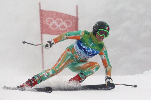 Ireland's Kirsten McGarry during her second run in the Women's Giant Slalom yesterday Photo: Getty Images