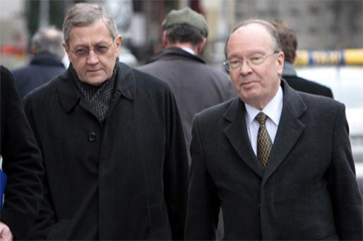 German economist Klaus Regling (left) and Max Watson, the banking experts who have been appointed by the Government to conduct a preliminary inquiry into the banking crisis
