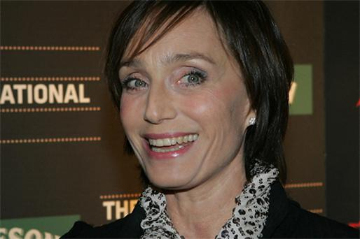 Kristin Scott Thomas at Cineworld in Dublin last night for the screening of 'Partir'