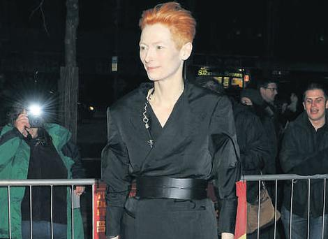 Tilda Swinton at the Jameson Dublin International Film Festival Closing Gala film 'I Am Love' at the Savoy Cinema in Dublin yesterday.
