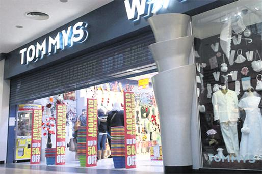 Tommy's Wonderland store in the Blanchardstown Shopping Centre , Dublin, which closed last night