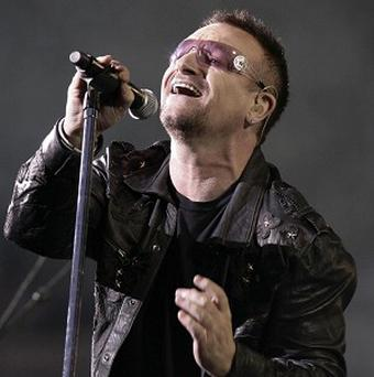 Bono of U2, the band which leads the US Billboard 2010 Money Makers list