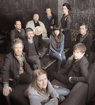 TOP CHOICE: From front clockwise, 2010 nominees Marketa Irglova, Glen Hansard, Adrian Crowley, Neil Hannon, Thomas Walsh, Paul Noonan, Valerie Francis, Julie Feeney, Ronan Gaughan and Daragh Anderson.