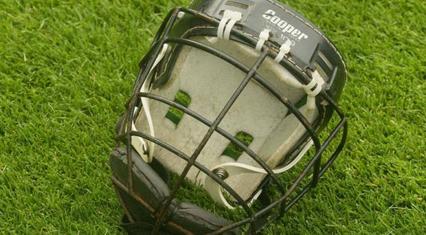 One of the approved helmets which all hurlers must now wear when playing