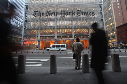 New York Times: takeover speculation Photo: Getty Images