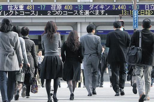 Japan's Nikkei average clawed up 0.3pc yesterday, supported by hopes for a bailout package for debt-ridden Greece, but the yen's advance to a more than two-month high against the dollar weighed on some exporters. Recall-hit Toyota gained 3.2pc on shortcovering after a drop in its February US sales of nearly 9pc was better than had been expected
