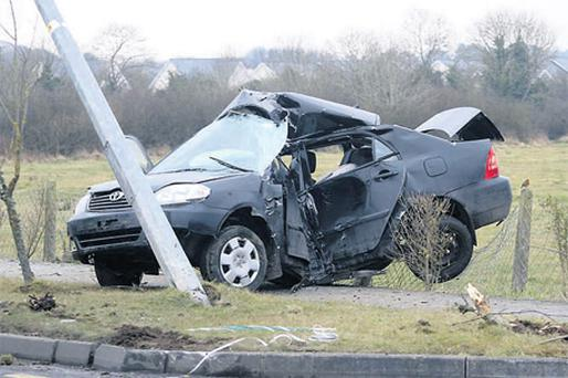 The scene of a crash in Tarmonbarry, Co Roscommon, in which Keith Henderson was killed