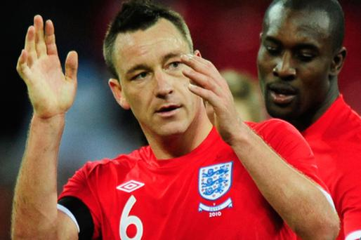 Drawing a lion in the sand: John Terry wants England to move on from the scandal which saw his stripped of the captaincy. Photo: Getty Images