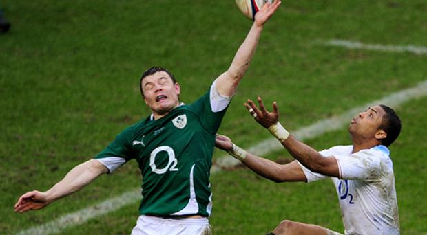 Brian O'Driscoll during the match with England. Photo: Getty Images