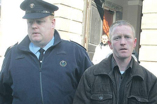 Jason Murphy leaving the court yesterday after he was found guilty of manslaughter