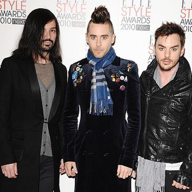 Jared Leto fronts rock band 30 Seconds To Mars
