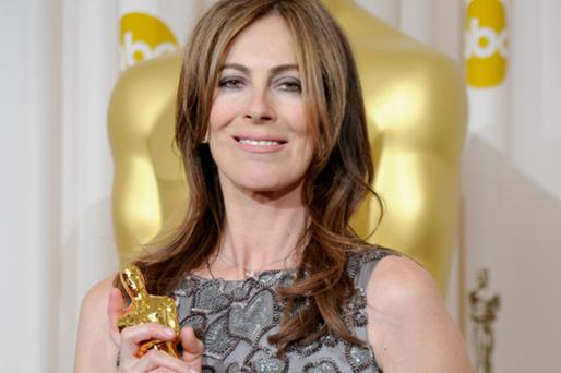 Kathryn Bigelow with her award for the best director Oscar for The Hurt Locker. Photo: Getty Images