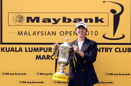 Noh Seung-yul snatched the Maybank Malaysian Open title yesterday Photo: Getty Images