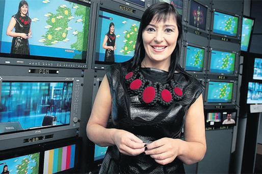 Jean Byrne in RTE wearing one of her distinctive dresses