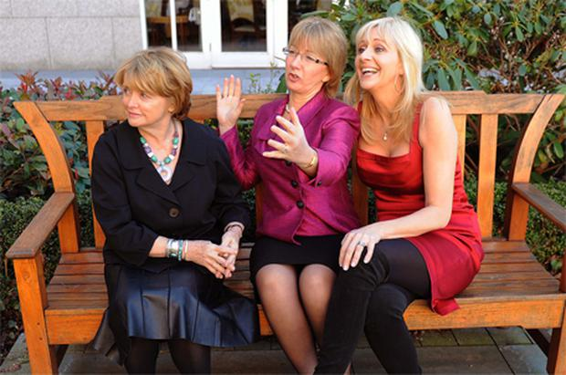 Writer Marie Heaney, Social and Family Affairs Minister Mary Hanafin and RTE presenter Miriam O'Callaghan at an event in aid of An Cosan in Dublin