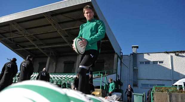 Ronan O'Gara pictured before yesterday's Ireland training session in Greystones DAVID MAHER/SPORTSFILE
