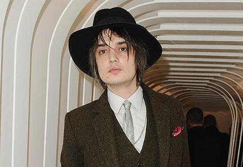 Pete Doherty at Paris Fashion Week. Photo: Getty Images