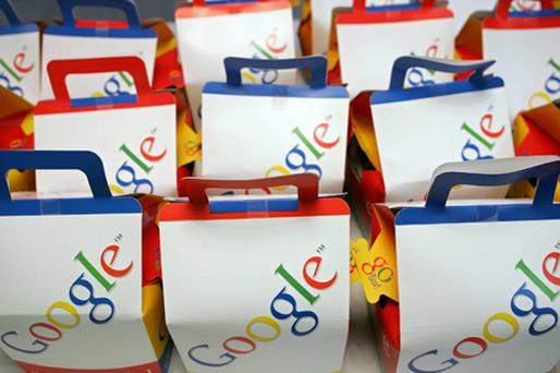 Google bags at their new London office in 2005 Photo: Getty Images