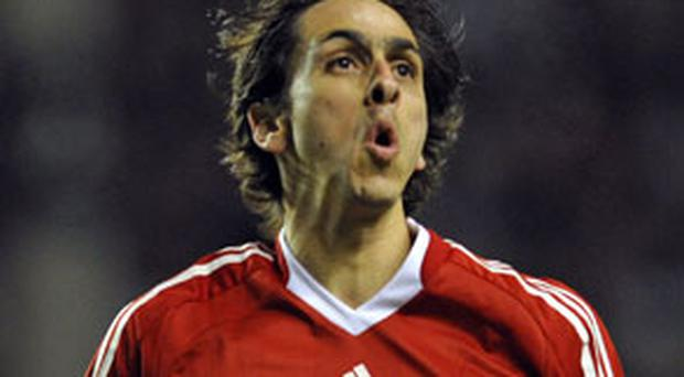 Yossi Benayoun is doubtful for the match against Lille tomorrow after sustaining an ankle injury Photo: Getty Images