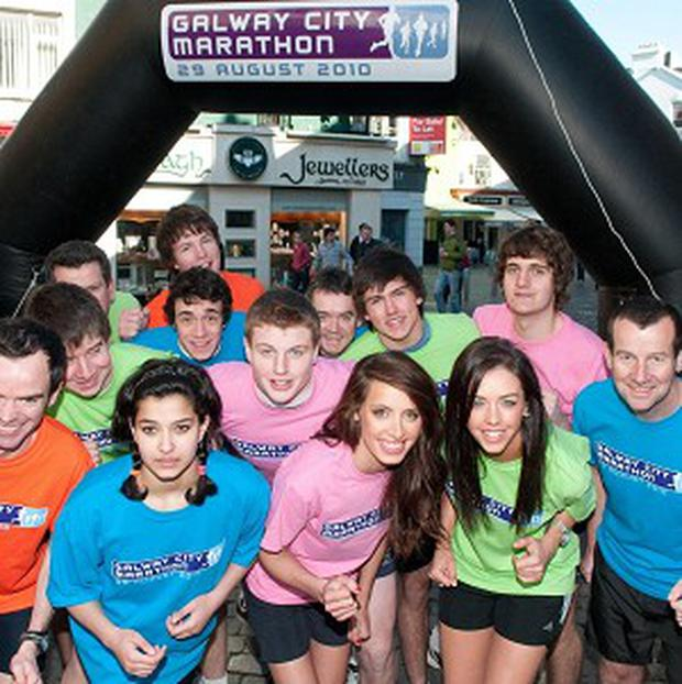 Organisers and participants launch this year's Galway City Marathon on High Street