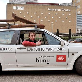 A car fuelled by coffee and driven by TV host Jem Stansfield has completed a 250-mile journey