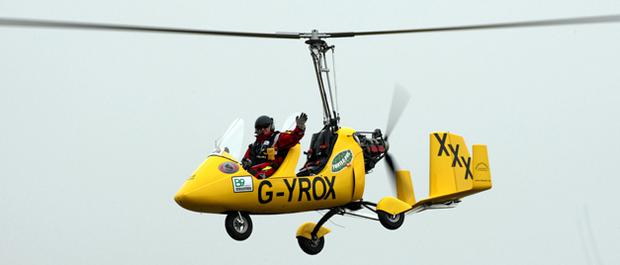 Norman Surplus aims to become the first man to circumnavigate the globe in an autogyro. All photos: PA