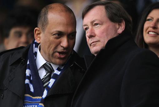 Balram Chainrai, seen here with Peter Storrie, received £4m as part-repayment for a loan Photo: Getty Images