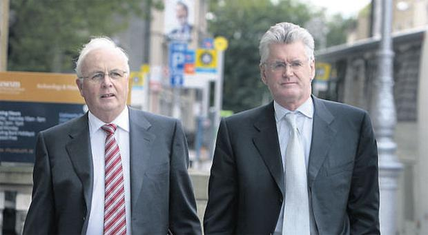 Donal O'Connor, executive chairman of Anglo Irish Bank (right) signalled before Christmas he intended stepping down at the bank from which non-executive director Frank Daly (left) had left earlier to chair NAMA. Alan Dukes is to be the new Anglo chairman.