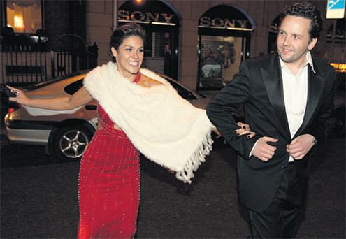 Heartbreak: Glenda Gilson with Mark Kershaw after the VIP Style Awards, where she won the award for the night's best dress